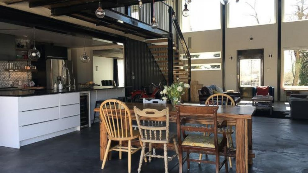 denver couple builds home with used shipping containers abc news. Black Bedroom Furniture Sets. Home Design Ideas