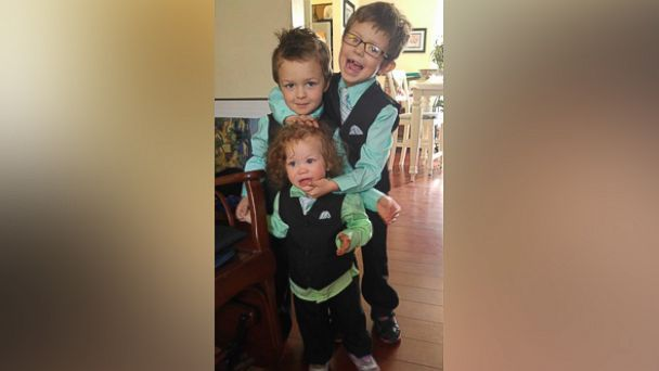 Silas seen with his brother, Caelan, 4, and sister Magnolia, 1, in an undated photo.