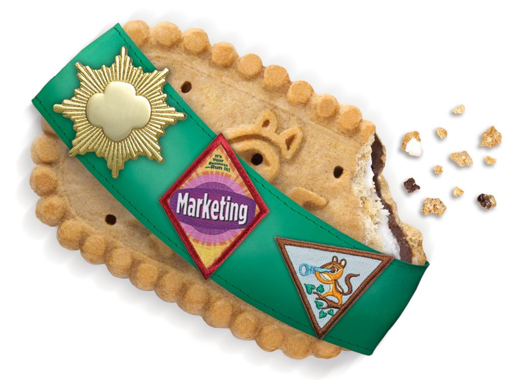 PHOTO: The Girl Scouts are introducing a crunchy graham smores-inspired sandwich cookie with a chocolate and marshmallow filling.