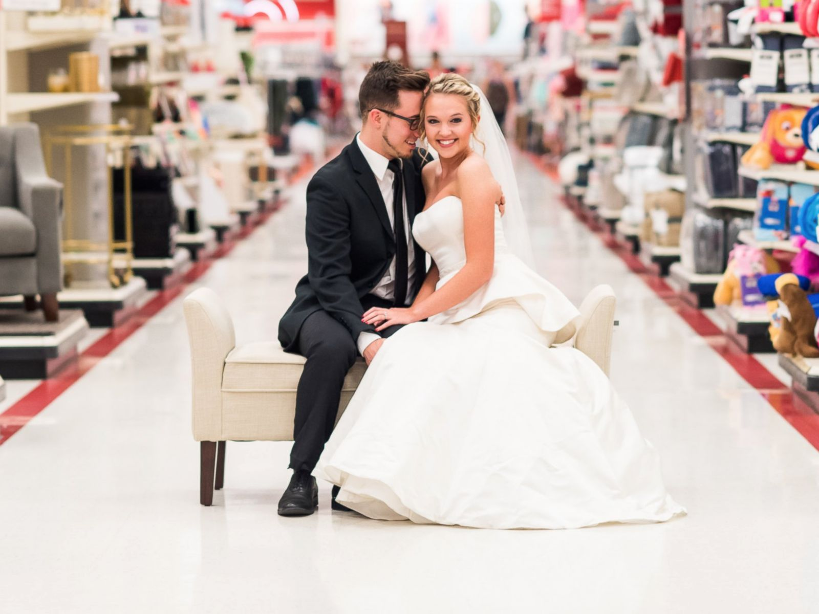 Target Wedding Dresses.West Virginia Couple Recreates Wedding Photos Inside Target To