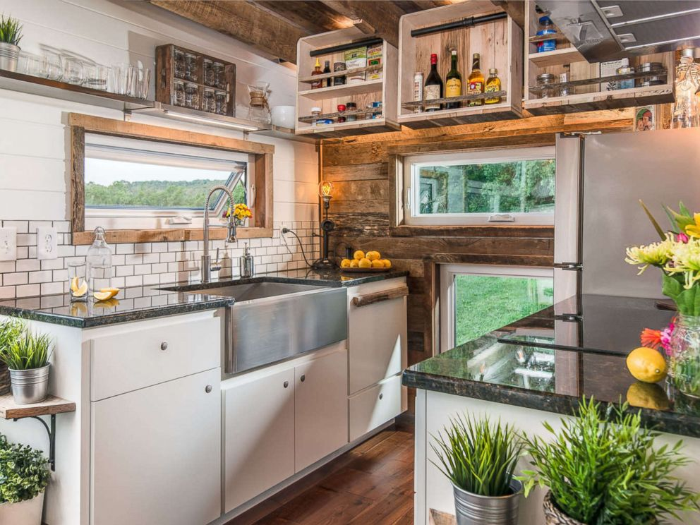 PHOTO: The kitchen inside New Frontier Tiny Homes Alpha Tiny Home.