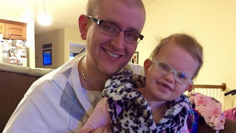 Adam Standiford is pictured with his six-year-old daughter, Savannah.