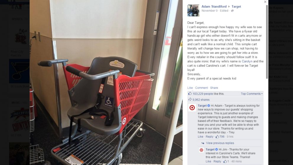 This screenshot shows a posting by Adam Standiford to Facebook, Nov. 9, 2015.