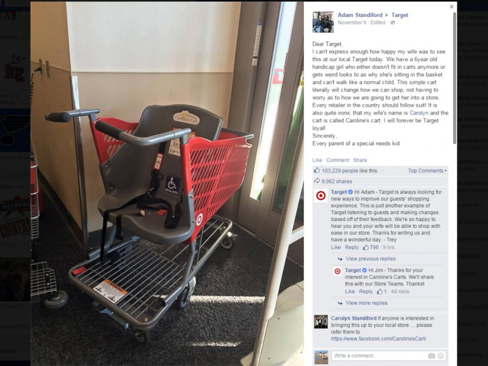 PHOTO: This screen shot shows a posting by Adam Standiford to Facebook, Nov. 9, 2015.