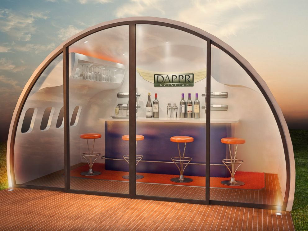 PHOTO: DappRs Aeropods are made from repurposed Airbus A320 airliners.