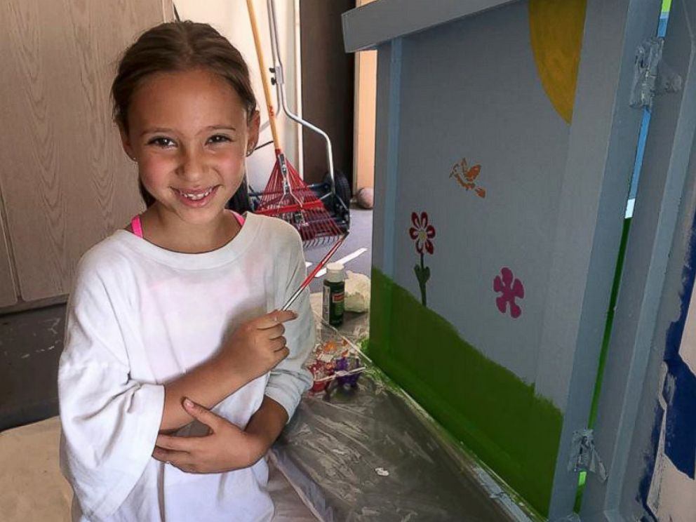 PHOTO: Anna Wolcott and her mother ordered the structure online and the kindergartner painted it herself.