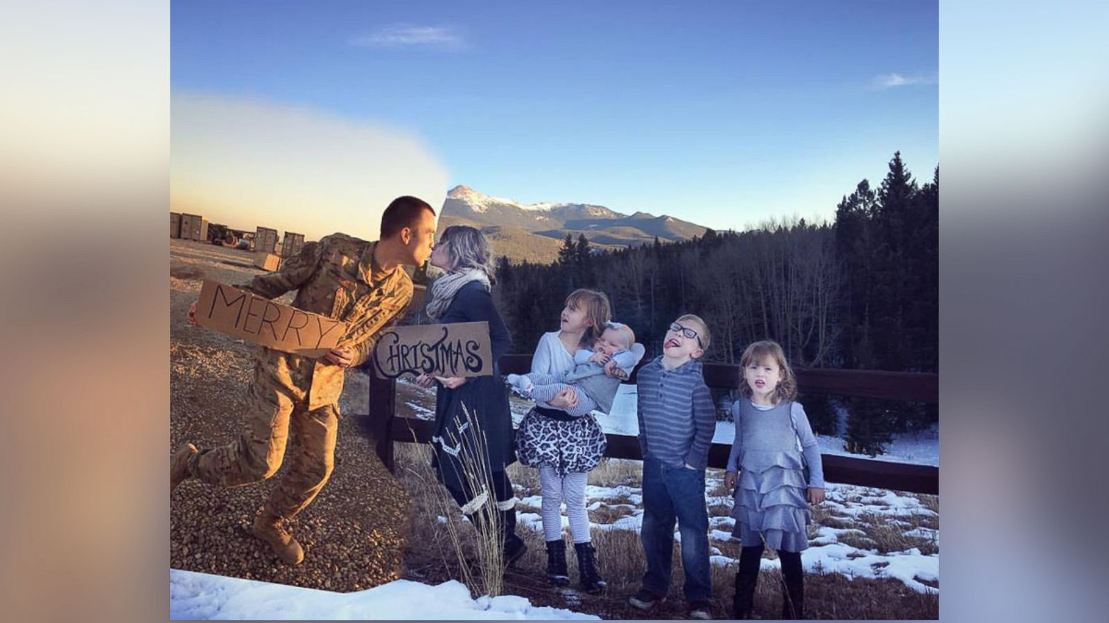 Wife Creatively Includes Deployed Air Force Husband in Family ...