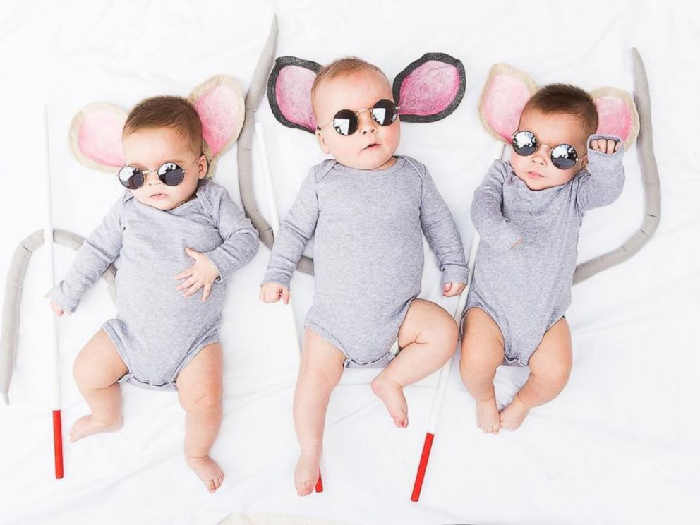 PHOTO: Mom dresses up her Sweet PEA triplets in epic DIY Halloween costumes.