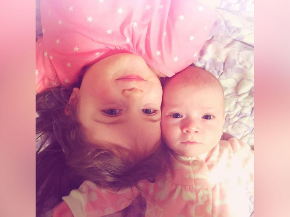 PHOTO:Walkers daughters, Molly and Mya, 3, photographed together.