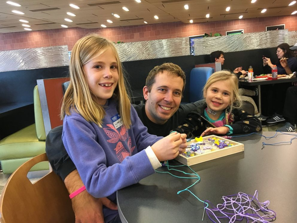 PHOTO: Eden, right, is seen here with her father, Nicholas Hoelscher, and sister, Isabella, 9, at Childrens Hospital Los Angeles.