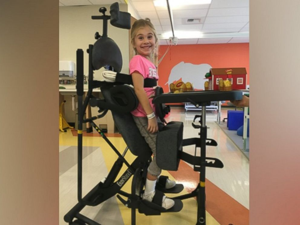 5 year old girl paralyzed from backbend vows to overcome injury