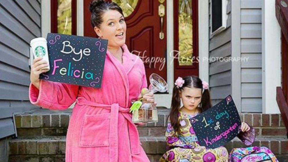 One mom's hilarious take on the back-to-school photo.