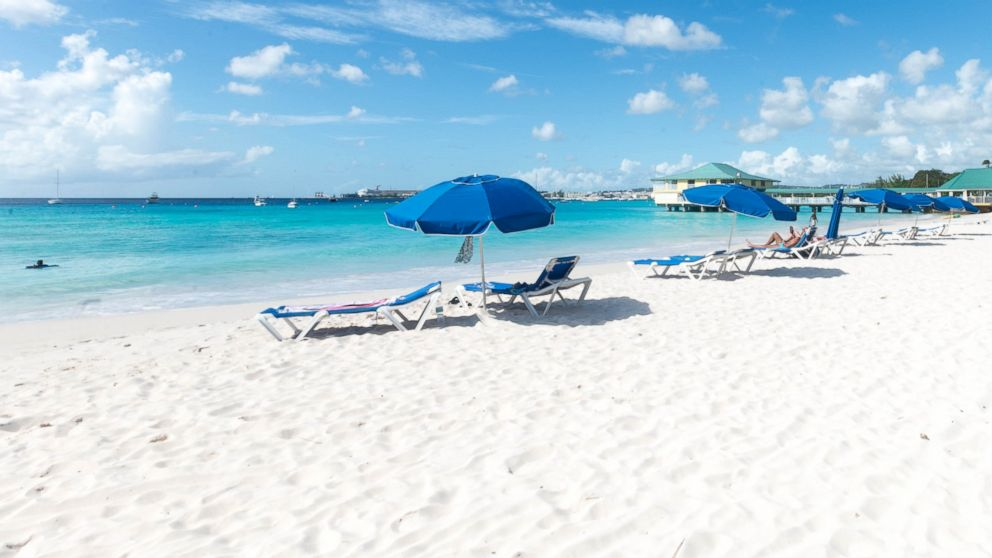 The beaches of Barbados, which hasn't been hit since 2010.