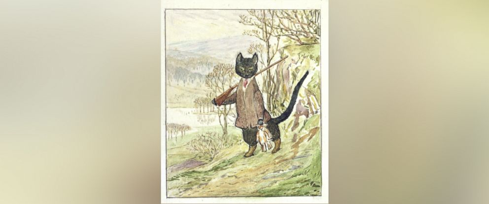 """PHOTO: """"The Tale of Kitty-in-Boots,"""" a lost Beatrix Potter story written over a century ago, was recently rediscovered and is set to be published for the first time in September of 2016."""