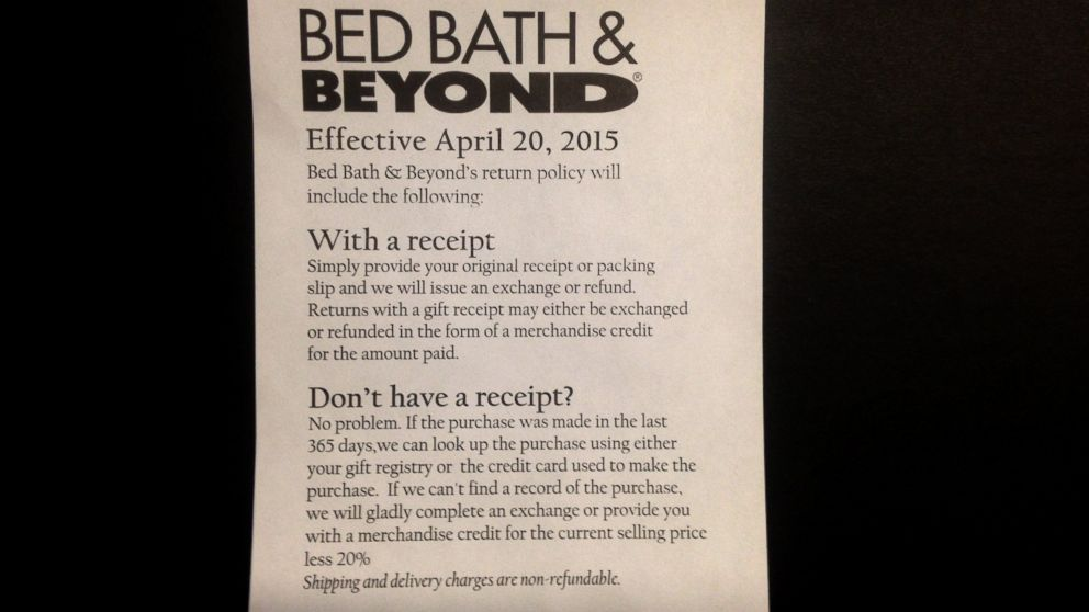 How Bed Bath & Beyond Will Punish Customers Making Returns