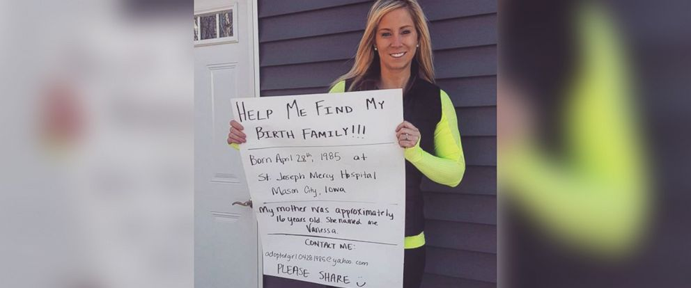 PHOTO: Megan Hejlik, 30, of Sheffield, Iowa is searching for her birth mother on Facebook.