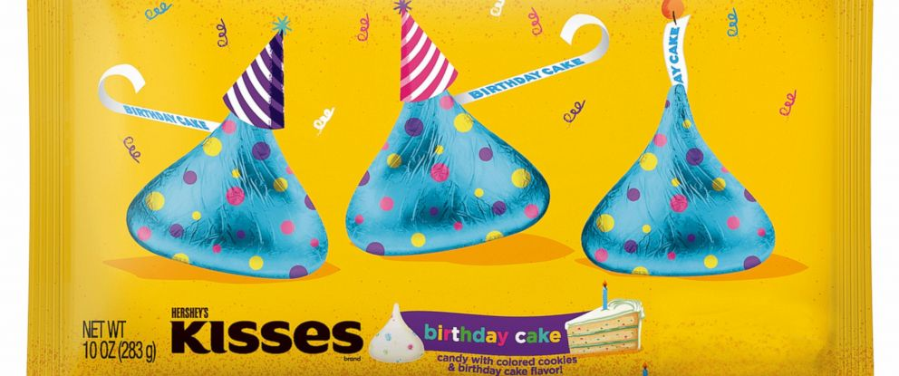 PHOTO: The new Hersheys Kisses Birthday Cake Candies will be on shelves in Walmart stores nationwide by mid-September.