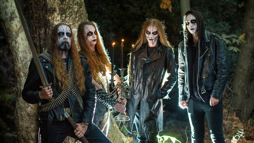 John Awesome and Nydia Hernandez ran into the black metal band, Coldvoid, as they were shooting their engagement photos.