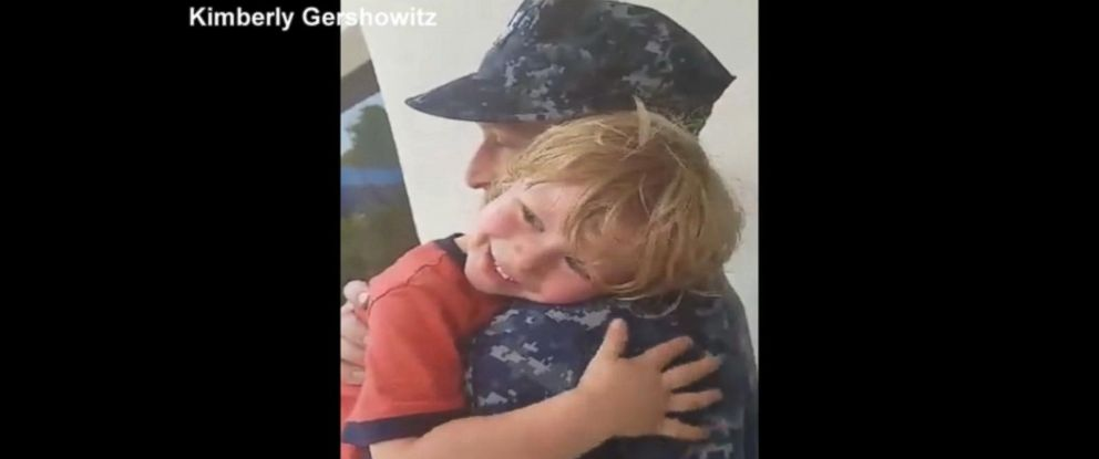 PHOTO:Kimberly Gershowitz of Kings Bay, Georgia captured the reunion between her husband, Aaron Gershowitz, and son, Matthew, 4, once Aaron returned home from deployment in May.
