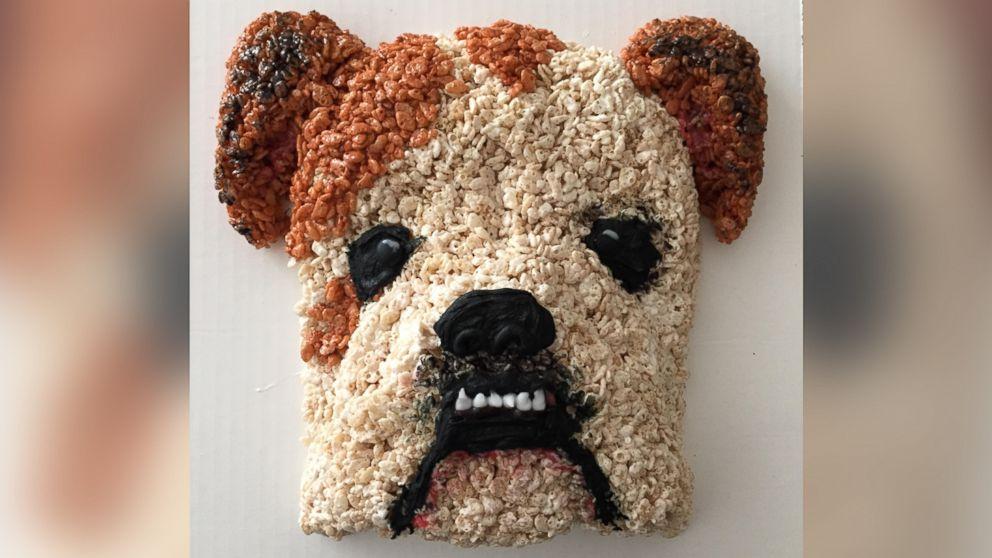 This English bulldog-themed treat deserves a-paws.