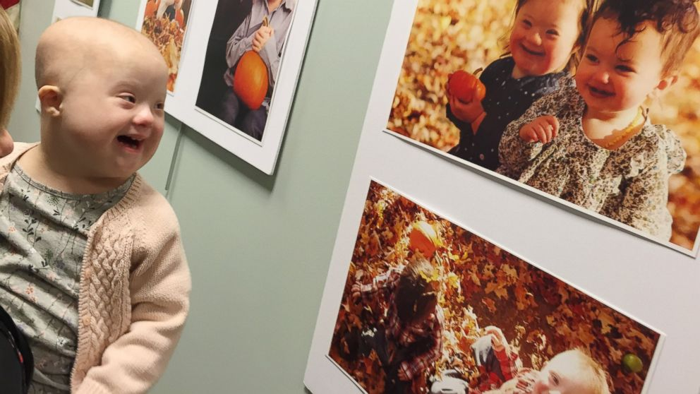Celia Furtado was thrilled to see a photo of herself at a gallery event for Down Syndrome Awareness Month.