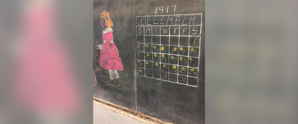 PHOTO: Chalkboard lessons dating back to 1917 were found at Emerson High School.