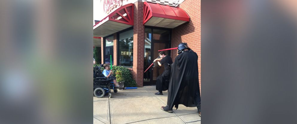 PHOTO: Kari Merriken took to Facebook on July 22 to thank the employees of Chick-fil-A in Columbus, Georgia for playing with her son Caleb, who has spinal muscular atrophy, after he was left out of a group of children playing nearby.