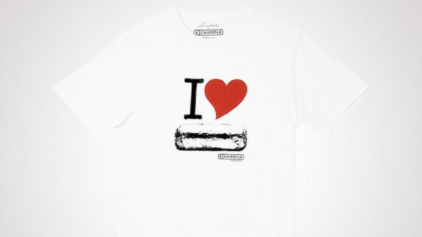 PHOTO: Chipotle t-shirt priced at $13.00.