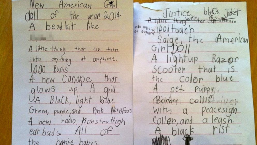 7-Year-Old Girl\'s Over-The-Top Christmas Wish List Because, Why Not ...