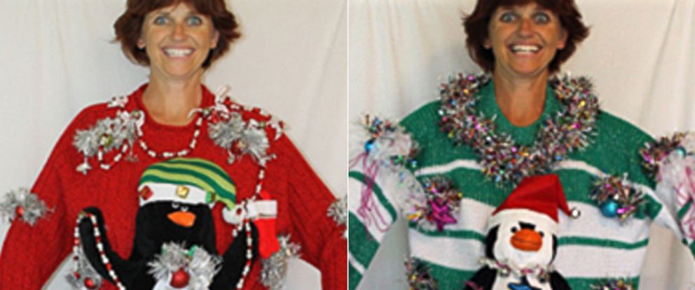 PHOTO: Florida mom Deb Rottums handmade Christmas sweaters are a viral hit.