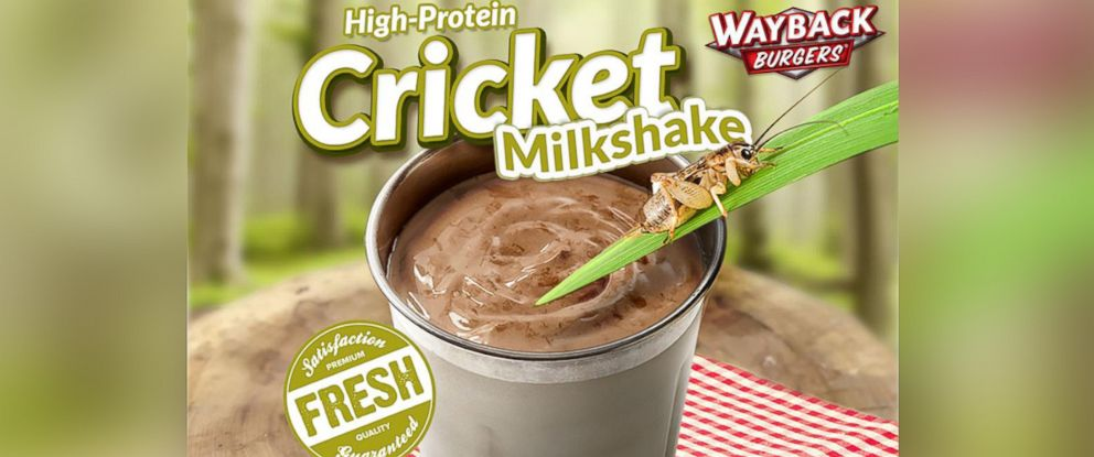 PHOTO: Wayback Burgers chain will introduce cricket-protein spiked shakes to the menu July 1.