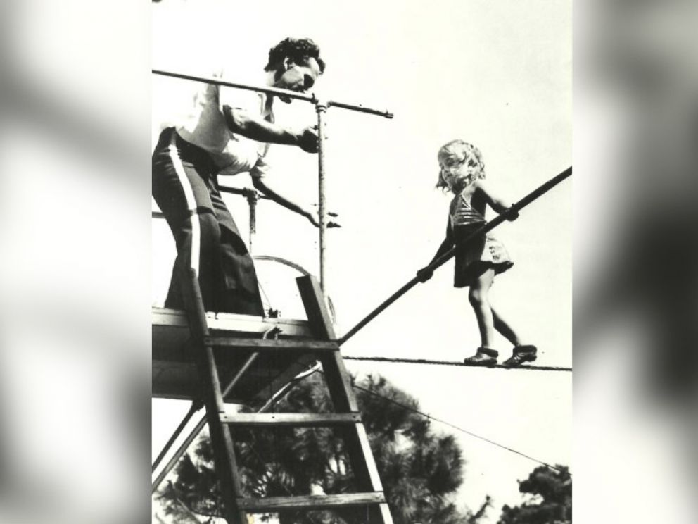 PHOTO: Carla Wallenda seen practicing one of her circus acts as a child.