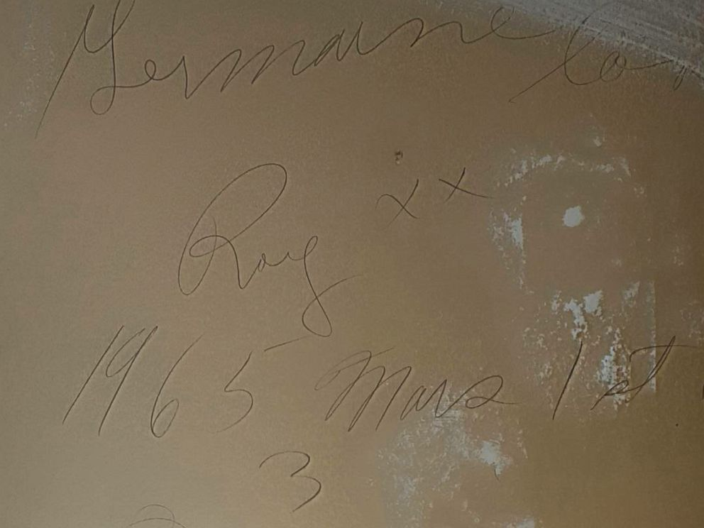 PHOTO: Rebecca Churan, of Ontario, Canada, returned a 51-year-old love note found in the drywall of her home.