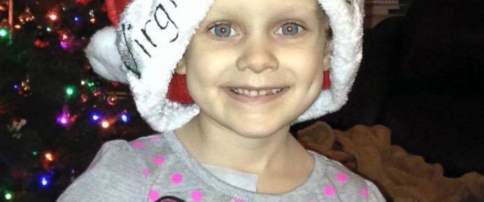 PHOTO:Virginia Rose, 4, Vandermark of Chesterfield, Virginia received an early Christmas on December 11.