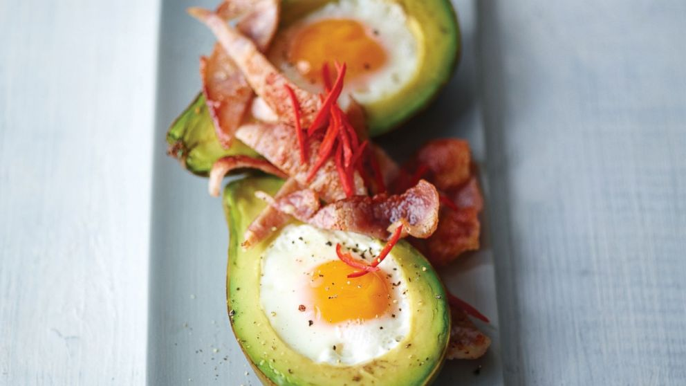 An image of Joe Wicks' Eggs Baked in Avocado (serves 1).