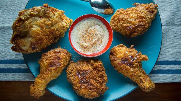 PHOTO: Eggnog fried chicken.