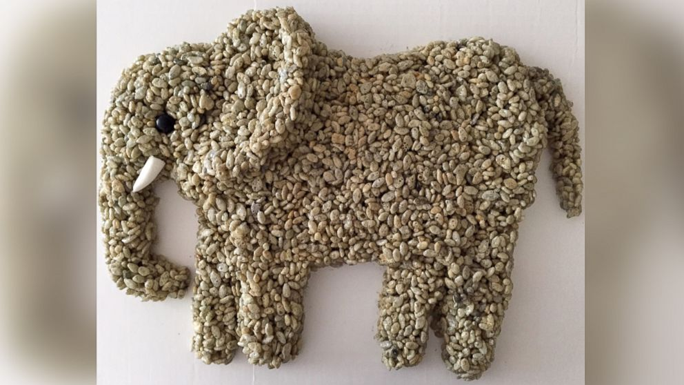 An elephant never forgets a tribute made using breakfast cereal.