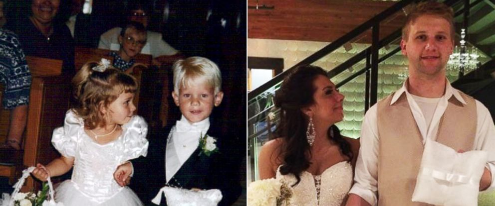 PHOTO: Brittney Husbyn and Briggs Fussy wed 20 years after serving as flower girl and ring bearer.