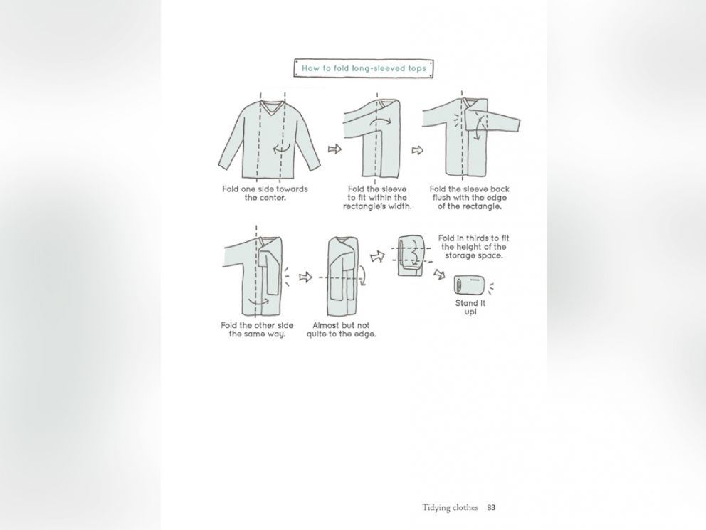 PHOTO: Spark Joy author Marie Kondo shares her efficient tricks for folding.