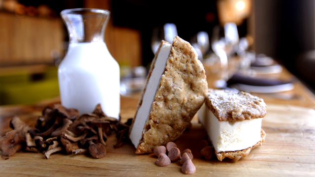 PHOTO: Candy Cap Mushroom Ice Cream Sandwich | Americano at Hotel Vitale, San Francisco