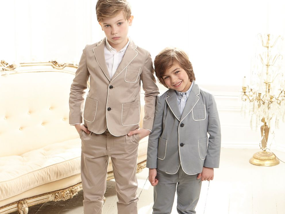 PHOTO: Tailored jackets and button downs fit boys up to 8 years at Marie-Chantal Children.