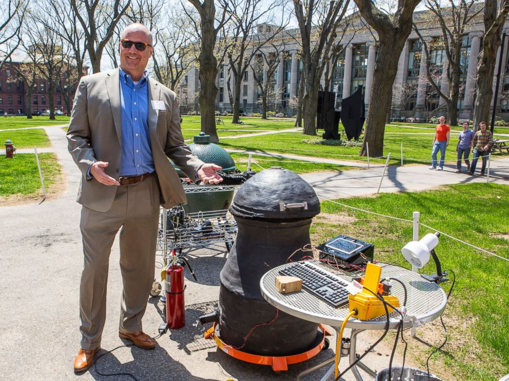 PHOTO: Harvard professor Kit Parker devised an engineering product to apply science to the art of smoking meat.