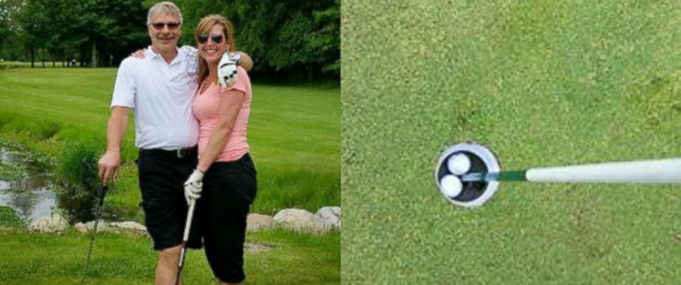 PHOTO: The Blundys of Portland, Michigan, made consecutive holes-in-one on the 16th hole.