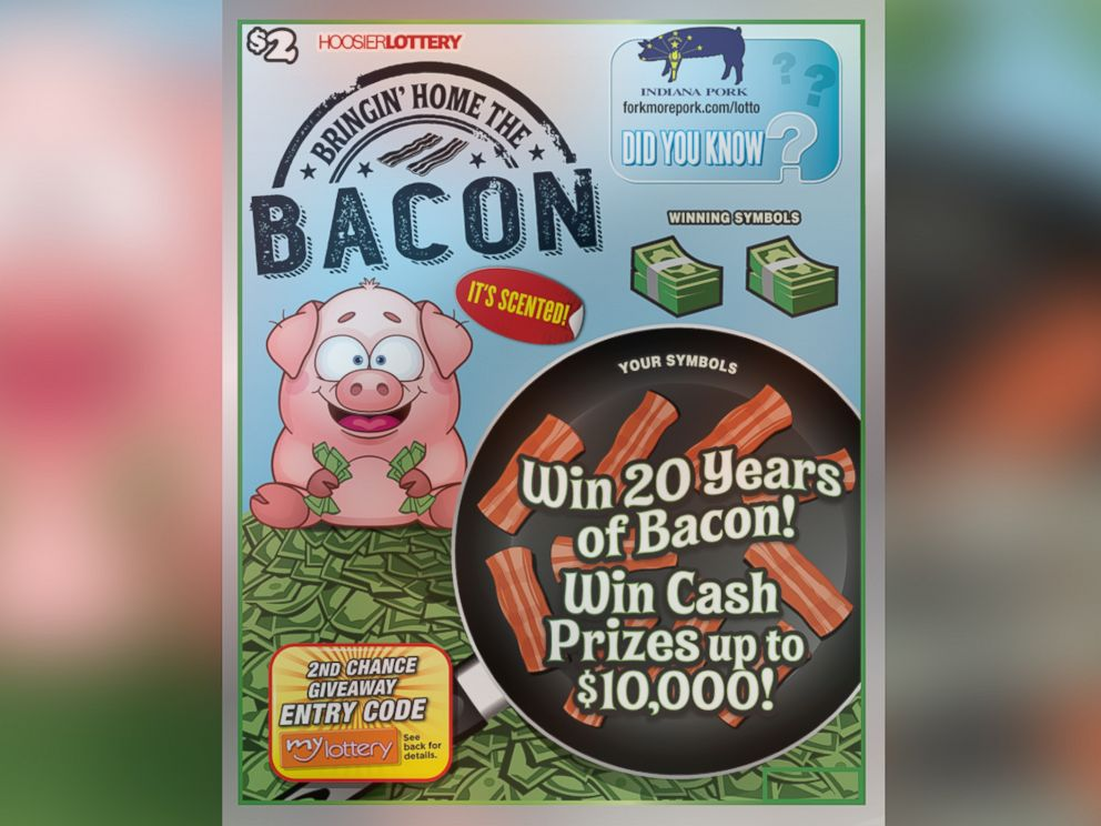 PHOTO: Hoosier Lottery is offering up to four people the chance to win 20 years of bacon.