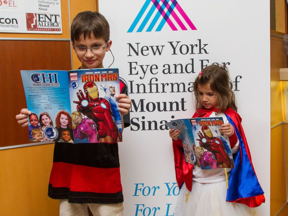 PHOTO: The New York Eye and Ear Infirmary of Mount Sinai hosted an event where kids got to see a new comic book aimed at the hearing-impaired which was created by Childrens Hearing Institute and Marvel Custom Solutions.