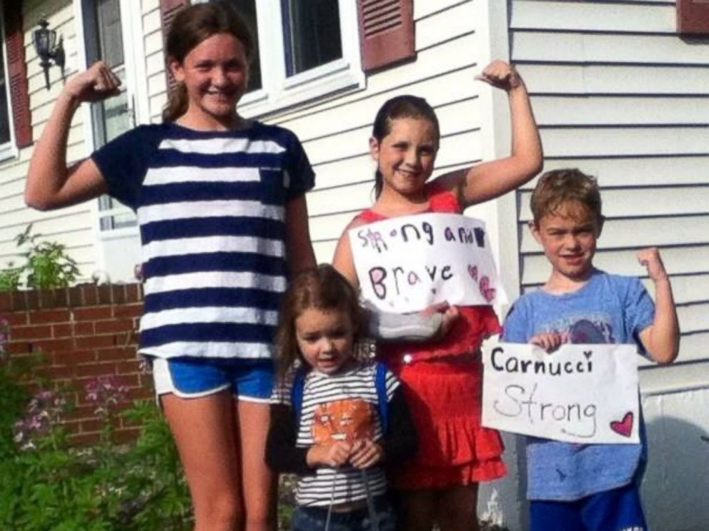 PHOTO: Friends made Carnucci Strong signs to support Carnucci through her recovery.