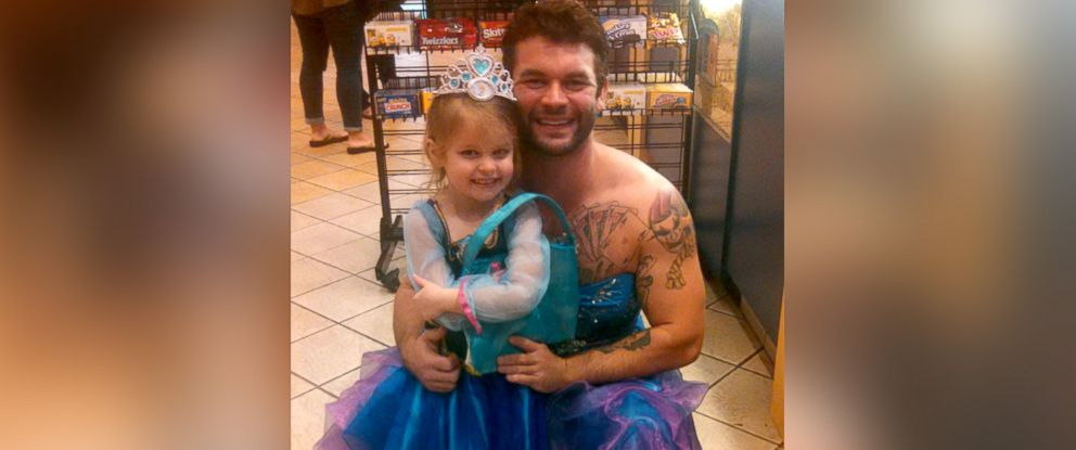 PHOTO: Jesse Nagy dressed as a princess for his 4-year-old niece, Izzy.