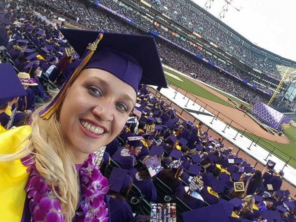 PHOTO: Jillian Sobol, 31, graduated from San Francisco State University on May 27, 2016, over 30 years after she was abandoned there.