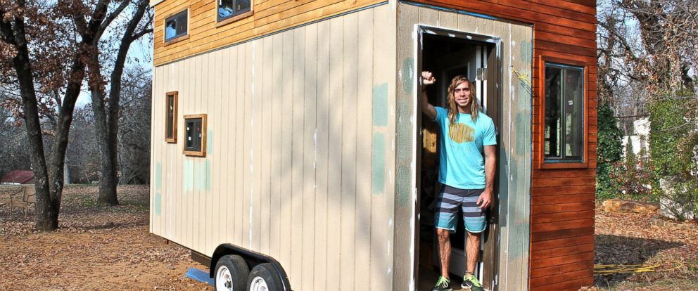 PHOTO: Joel Weber, 25, built a tiny house for himself to avoid college debt.