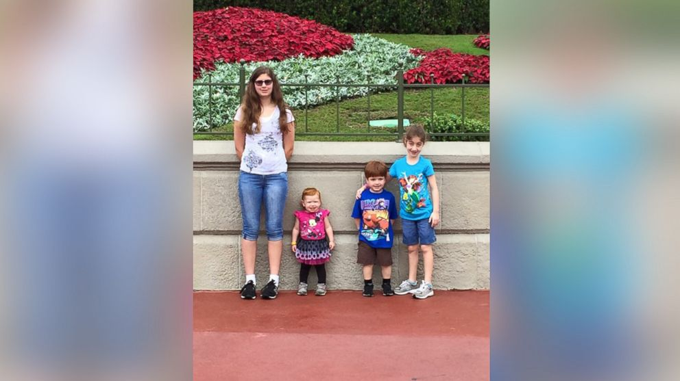 Keira and her siblings photographed at Disney World in Nov. 2015, from left to right: Savannah, 14, Cecilia, 2, Drew, 4, and Keira, 9.